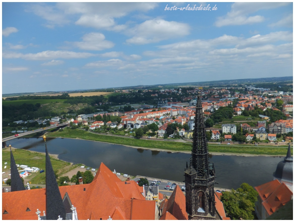 Blick zur Elbe bei der Turmführung