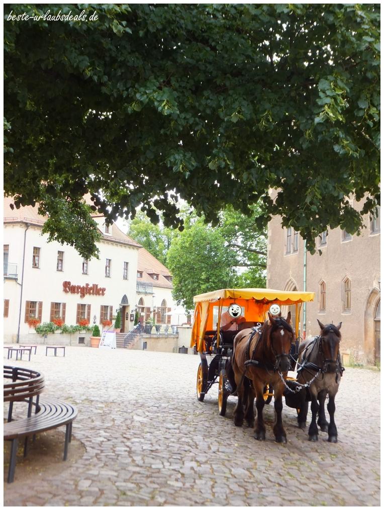 mit der Kutsche auf die Albrechtsburg