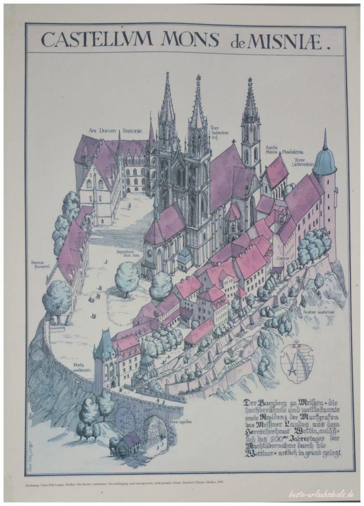 alte-Ansicht-Burg-Meißen-Castle-Misnia